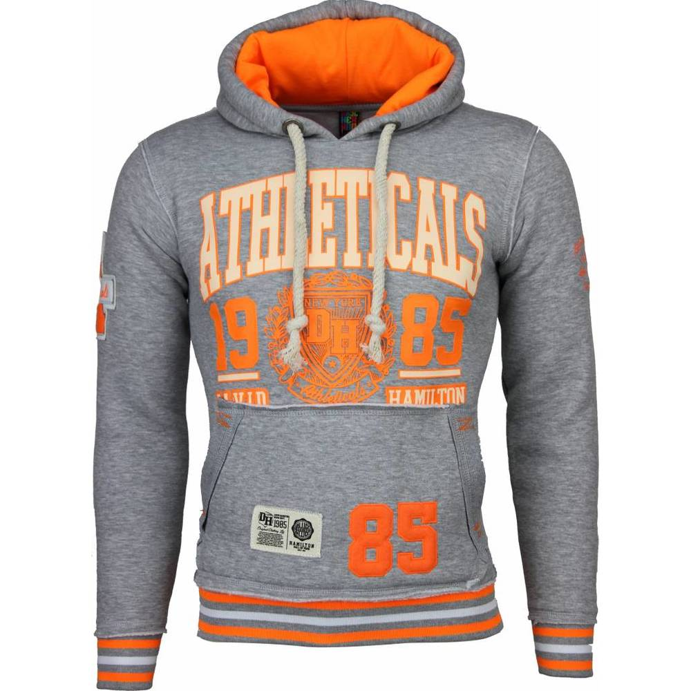 Casual Hoodie - Athletics Training Neon Print Hood