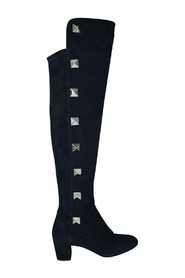 Above The Knee Suede Studded Boots -Pre Owned Condition Very Good