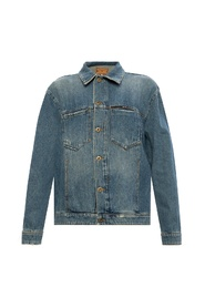 Branded denim jacket