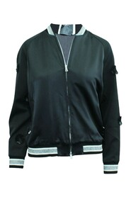 Satin Jacket with Laser Cut Embroidery