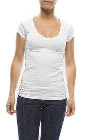 Claesens Ladies T-shirt V- neck s/s White