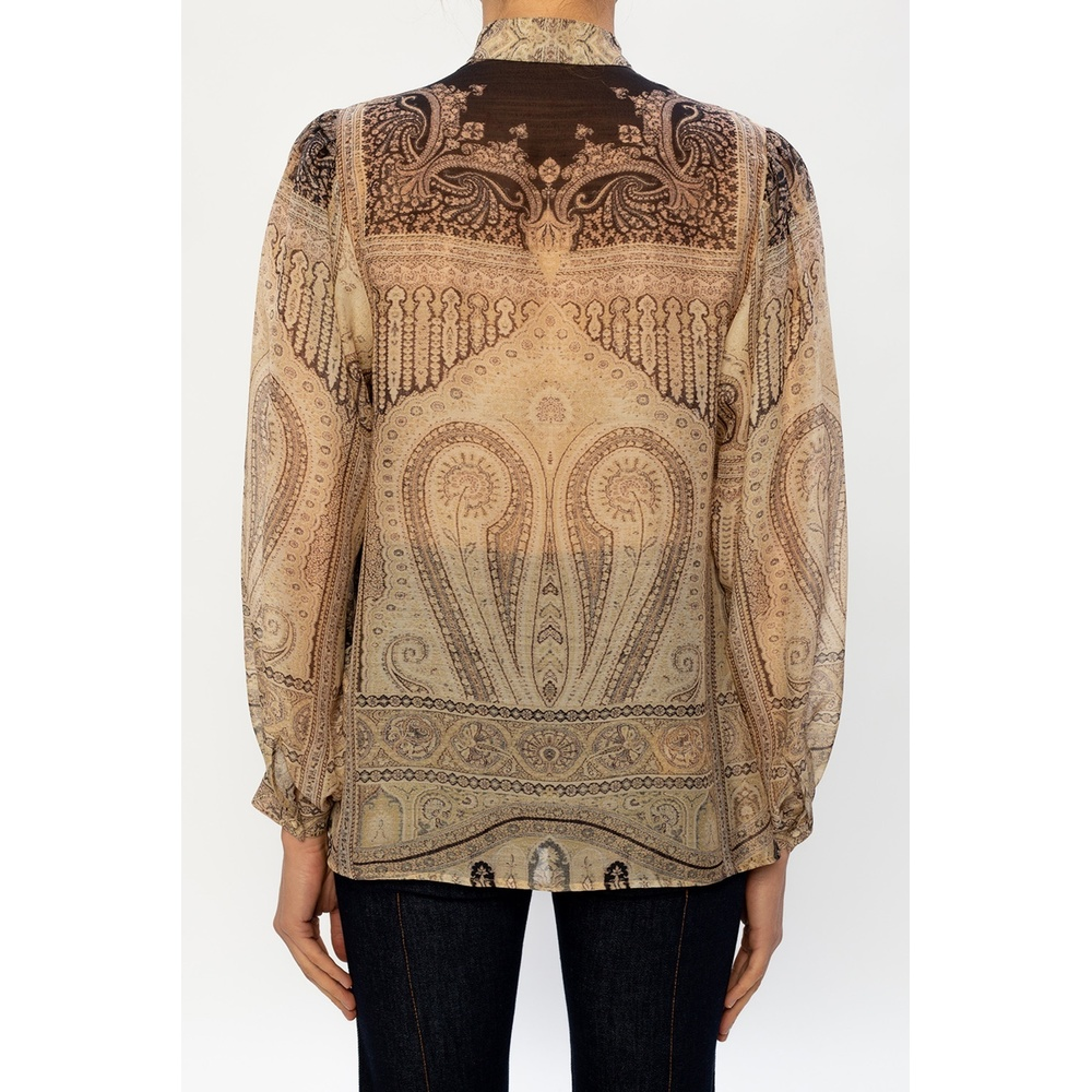 Etro Beige Patterned top Etro