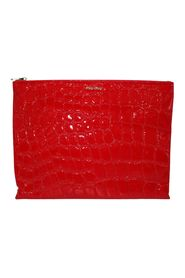 Embossed Fabric Clutch