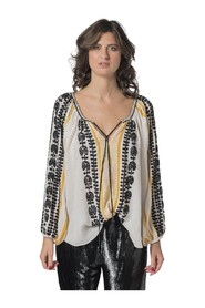 GAUZE BLOUSE WITH PAILETTES EMBROIDERY