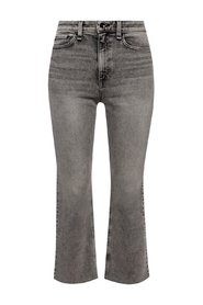 Raw-trimmed jeans