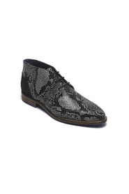 Half-high lace-up shoe HOCKENHEIM 202002773 black and white printed leather