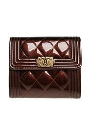 Brukte Quilted Patent Leather Boy Wallet