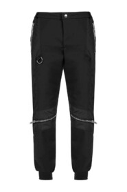 CASUAL PANTS WITH RIBBED WAISTBAND