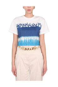 CROPPED PRINTED T-SHIRT WITH