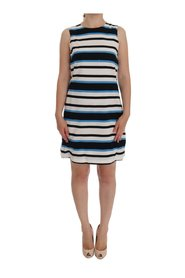 Striped Silk Stretch Shift Dress