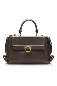 Gancini Sofia Satchel Leather Calf