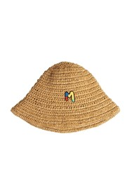 Cappello bucket in paglia