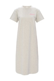 Logo-embroidered dress