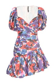 DIONNE PRINTED DRESS WIDE V NECK