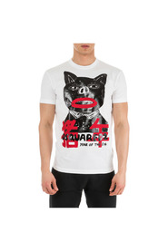 men's short sleeve t-shirt crew neckline jumper pig punk