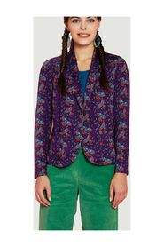 Amalia birds print knit jacket