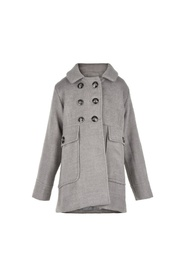Grå Creamie Jolene coat rose grey