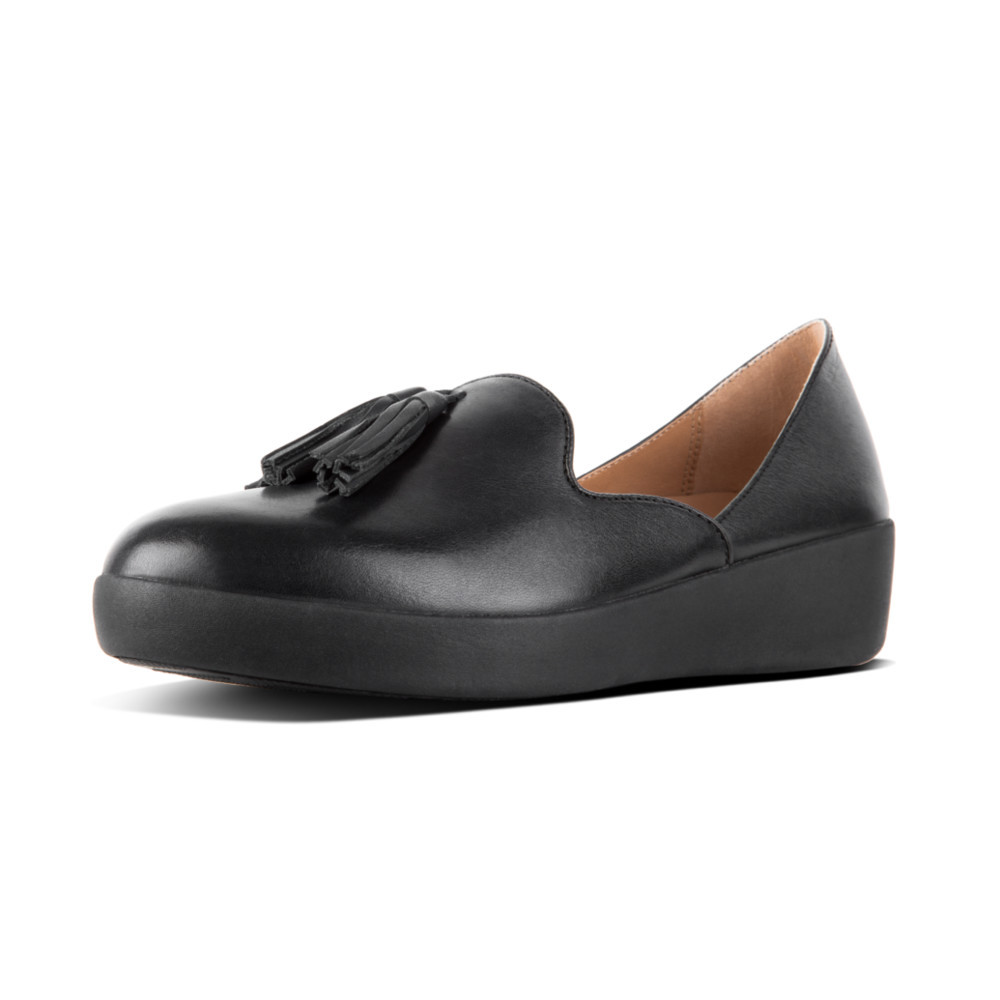 Black Fitflop Tassel D'Orsay Leather