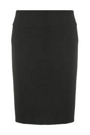 Straight mid-rise skirt