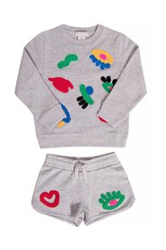 Sweatshirt and sweat shorts set