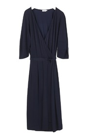Filippa K Jersey Wrap Dress Navy