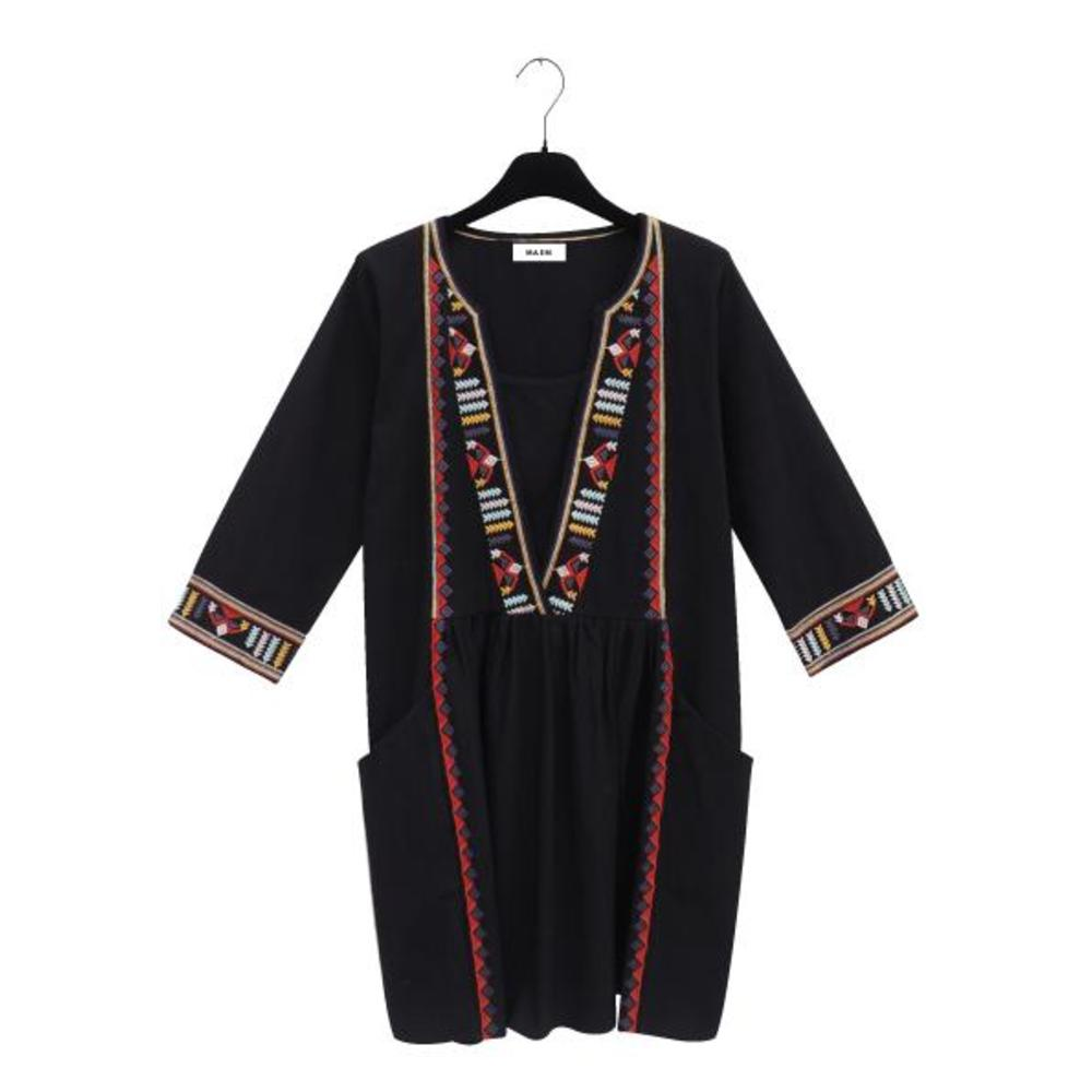 GABY Oversized Black Cotton Dress