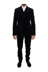 Velvet Double Breasted Slim Suit