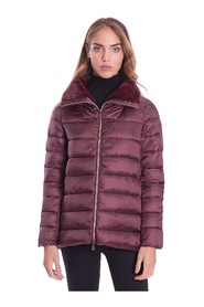 SHORT DOWN JACKET WITH FAUX FUR COLLAR