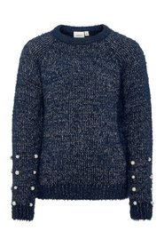 Knitted Pullover pearl embellished