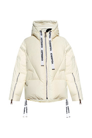 Down jacket with logo