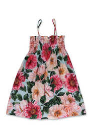dress with camellias
