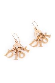 Brukte Crystal Logo Dangle Earrings