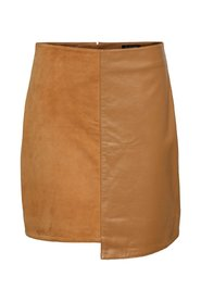 Asymmetrisk Leather Skirt