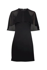 Dress with Cape overlap