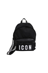 ICON BLACK NYLON LEATHER SNEAKER
