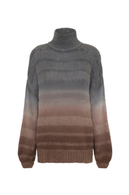 AMINA STRIPE DYE OVERSIZE SWEATER