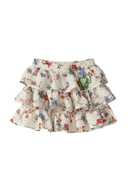 FLORAL FANTASY SKIRT WITH ELASTIC WAIST