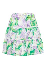 Skirt tropical leaf print