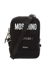 Logo-printed shoulder bag
