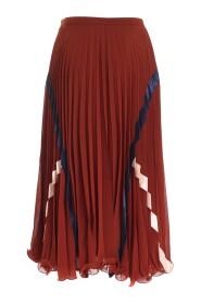 Veckad kjol med grafiska detaljer