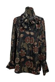 Pussybow -skjorte i blomstertryk med blomsterprint