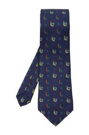 Silk tie with logo