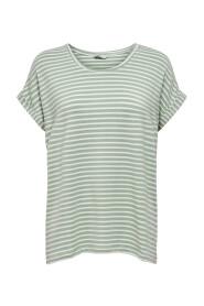 Jadeite Onlmoster Stripe S / S O-Neck Top Jrs Noos T-shirty i topy