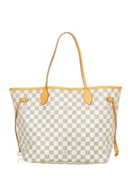 Pre-owned Damier Azur Neverfull MM Canvas