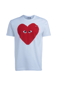 T-Shirt PLAY bianca cuore rosso