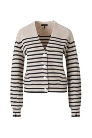 Striped Cashmere Knit Cardigan