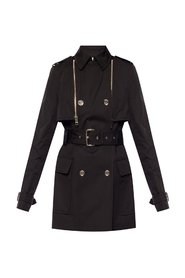 Coat with decorative buttons