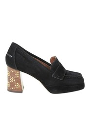 Chose suede loafers with studs