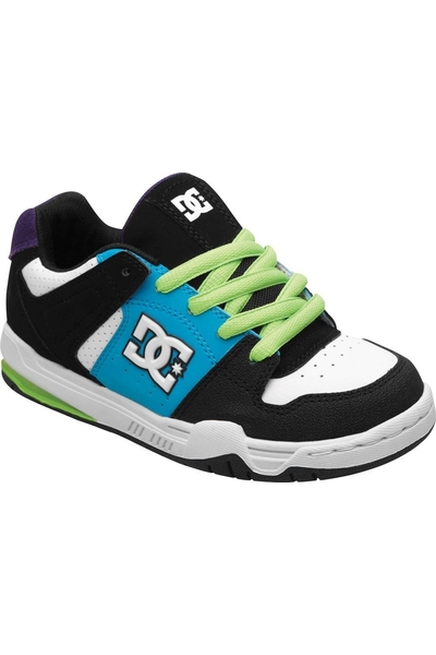 21a0c541 BLACK/TURQUOISE/SOFT LIME MONGREL YOUTH SNEAKERS   DC   Sneakers ...