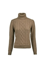 Knit, Merino Cable Roll Neck